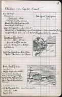 Artist's ledger - Book II: P. 47 SHACKS AT PAMET HEAD MOUTH PAMET RIVER - FULL TIDE