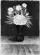 Dahlia and Daisies in a Vase