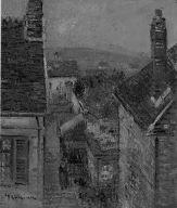 [View From an Attic Room, Vue prise d'une lucarne granier, jour de pluie.]