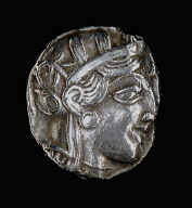 [Coin Showing the Goddess Athena, Reverse: Owl on olive branch]