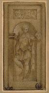 Niche Statue of David with the Head of Goliath
