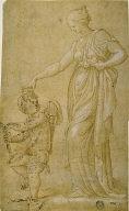 Venus(?) and Cupid