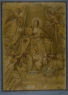 Virgin Mary Handing Scapular to Saint Simon Stock