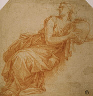 [Draped Woman Holding Urn, Woman with Urn]
