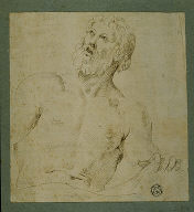 Half-length Sketch of Bearded Man (Figure of Jupiter?)