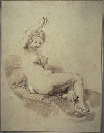 [Female Nude Reclining with Arm Raised, Study of a Female Nude Reclining on a Couch, Study of a Female Nude Reclining]
