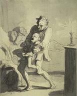 [Fatherly Discipline, La Correction Paternette, The Disturbed Night (Correction Paternelle), Scène de ménage (La Correction Paternelle), Family Scene]