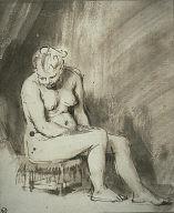 [Female Nude Seated on a Stool, Nude Woman Seated on a Stool]