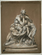 [Study for the Sculpture Ugolino and His Children, Study, Study for Ugolino, Final Published Work: Ugolino and His Sons, sculpture, 1861]