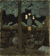 [Evening in the Garden of the Alcazar, Jardin de l'Alcazar le Soir]