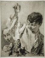 [Giacomo Feeding a Dog, Boy Feeding a Dog, Young Boy Feeding a Dog]