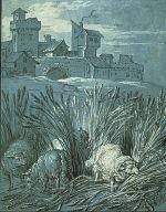 """[Sheep in the Field (""""Rien de trop I""""), Rien de Trop (illustration of La Fontaine's fable CLXXX Sheep in the Field), Illustrations for La Fontaine's Fable 'Rien de Trop' I, Final Published Work: Fable CIXXX, Jean de la Fontaine, Fables Choisies, Paris, 1755-59]"""