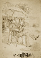 [On the Terrace of a Hotel in Bordighera: The Painter Jean Martin Reviews his Bill, Portrait of Edmond Renoir]