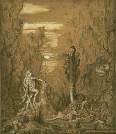 [Hercules and the Lernaean Hydra, Hercules and the Hydra of Lerna, Final Published Work: Hercules and the Hydra of Lerna, oil on canvas, AIC 1876]