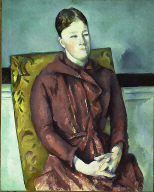 [Madame Cézanne in a Yellow Chair, Mme. Cézanne au fauteuil jaune]