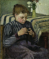 [Woman Sewing, Girl Sewing]