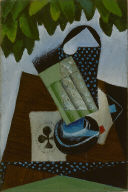 [Glass and Playing Cards, Still Life with Playing Cards on a Table]