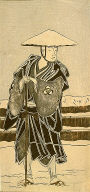 The actor Bando Mitsugoro I as Abbot Saimyo-ji Tokiyori, disguised as a monk