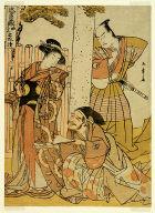 Scene at the Tsurugaoka Hachiman Shrine, from act one of Chushingura (Treasury of the Forty-seven Loyal Retainers)