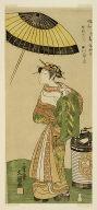 The actor Segawa Kikunojo II as the courtesan Hitachi in part two of the play Wada Sakamori Osame no Mitsugumi (Wada's Carousal: The Last Drink With a Set of Three Cups)