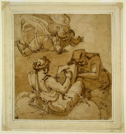 Allegorical Subject (Angel above Two Sibyls)