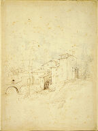 Watermill with Figures on an Arched Bridge