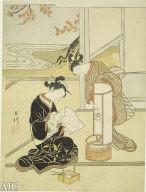 "[""Ando no Sekisho""., The Evening Glow of the Ando]"