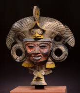 Mask from an incense burner depicting the old deity of fire