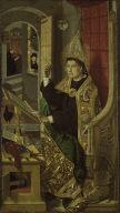 [A Bishop Saint, A Benedictine Saint]