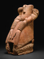 Kneeling Figure with Snakes