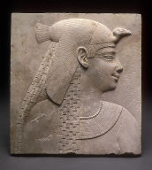 Relief Plaque Showing a Queen or Goddess