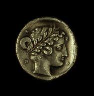 [Coin Showing a Gorgon, Reverse: Head of nymph Parthenos, Reverse: Head of nymph Parthenos]