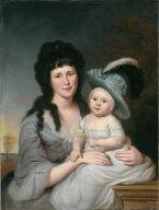 Mrs. John Nicholson (Hannah Duncan) and John Nicholson, Jr.