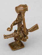 Gold Weight (Man with Powder Keg)