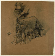 [Study, Study of a Seated Woman in Profile]