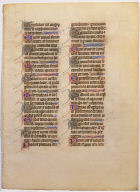 Psalter Leaf for use in the Dioceses of Salisbury and Canterbury