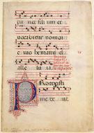Antiphonal Leaf of Gregorian Chants