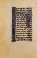 Page from a Book of Hours: Litany of Saints