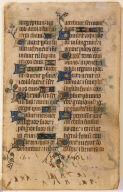 Psalter Leaf with Gold and Silver Ornaments