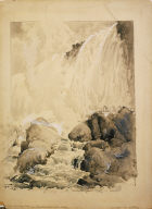 View of the American Falls, from below the Cave of the Winds