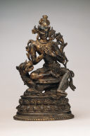 Bodhisattva Manjushri Seated on a Lion
