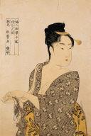 A Flirt, from the series Ten Studies in Female Physiognomy (Fujin sogaku juttai)