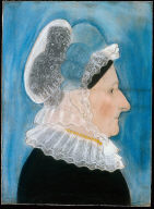 Woman in Lace Cap and Collar