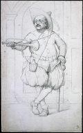 Caricature Portrait: Butler with a trumpet