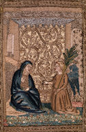 Scenes from the Life of the Virgin (part of an orphrey for a cope, one of two)