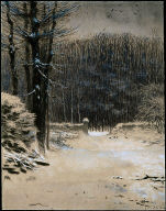Entrance to the Forest at Barbizon in Winter
