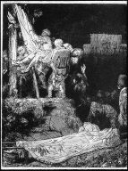 [The Descent from the Cross by Torchlight, The Descent from the Cross: By Torchlight]