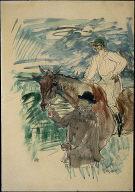 The Jockey led to the start (Le Jockey se rendant au porteau)