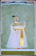 An Obese man, possibly brother of Maharana Jagat Singh Nathji? ---Portrait of Pratap Sing
