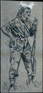 Civil War Soldier in Zouave Cap
